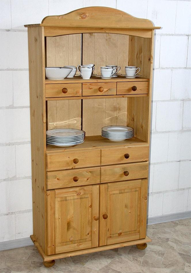 Massivholz Küchenschrank Küchenregal Kiefer massiv Holz gelaugt