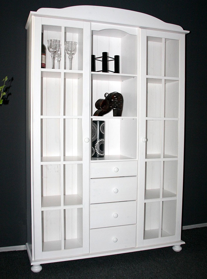 vitrinenschrank weiss sonstige preisvergleiche. Black Bedroom Furniture Sets. Home Design Ideas