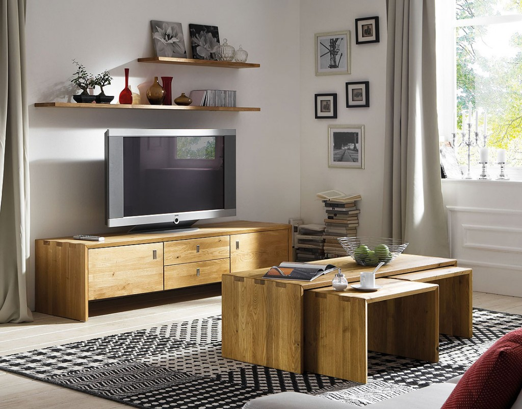 massivholz tv lowboard tv m bel kommode kernbuche. Black Bedroom Furniture Sets. Home Design Ideas