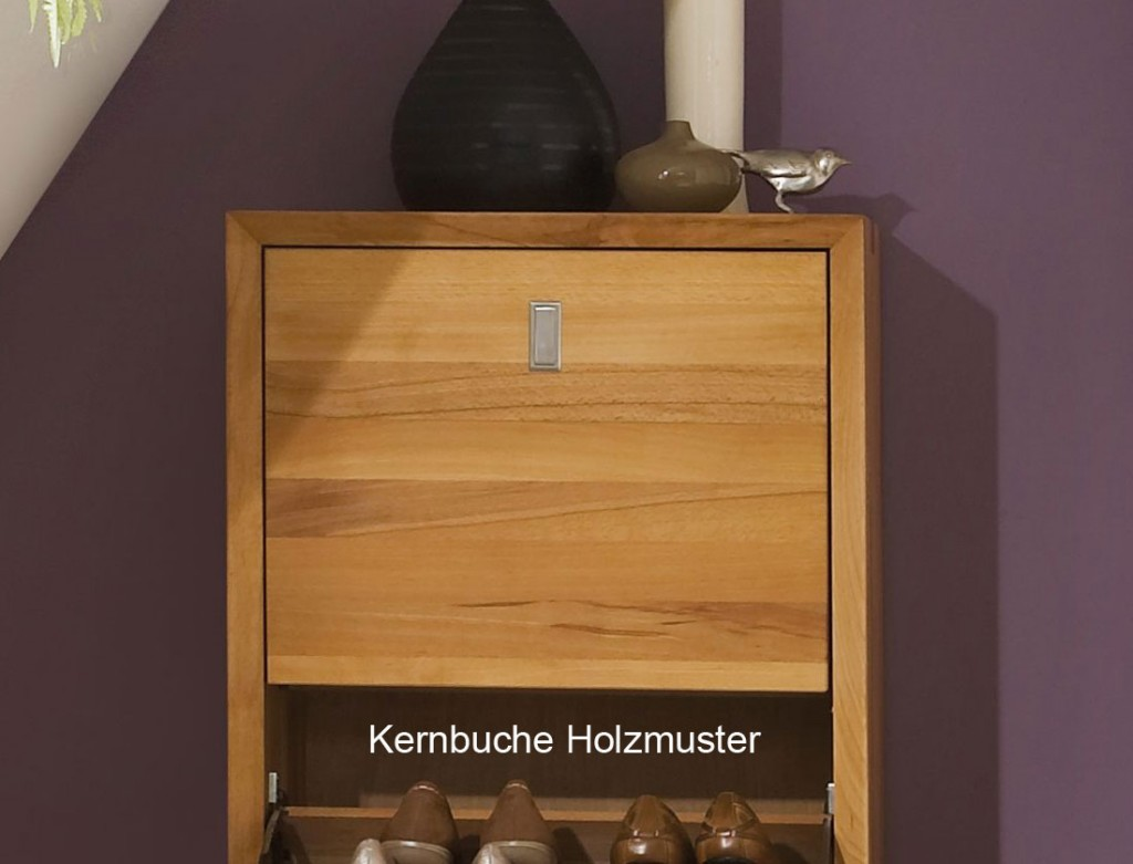 massivholz garderobe hutablage wandgarderobe kernbuche. Black Bedroom Furniture Sets. Home Design Ideas