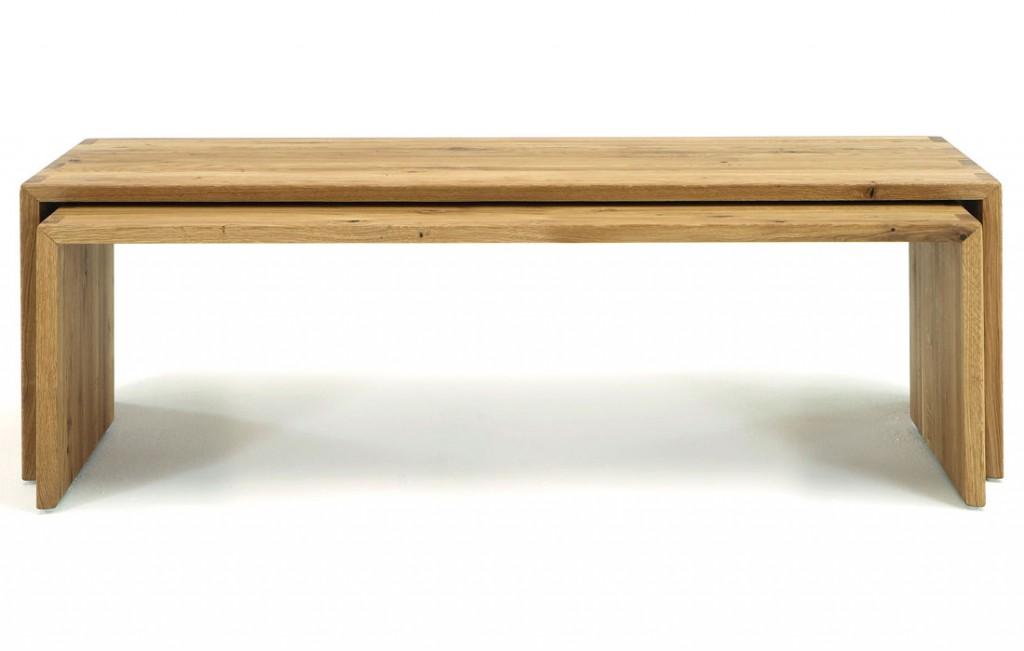Massivholz 2x couchtisch beistelltisch wildeiche massiv holz for Couchtisch holz massiv