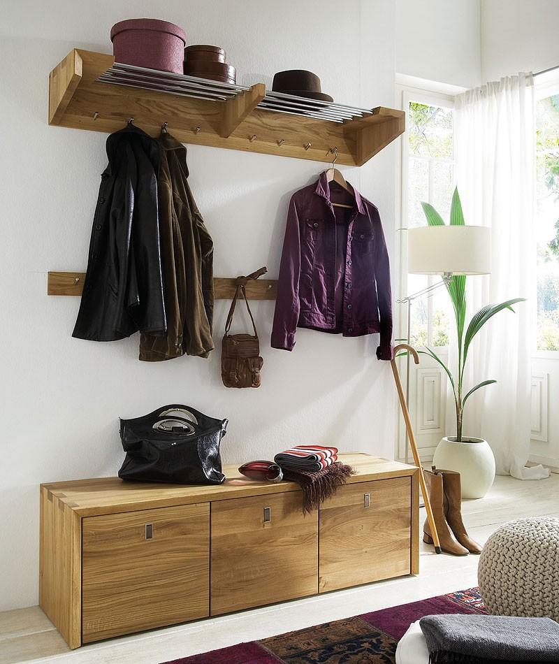 massivholz garderoben set dielenm bel 3 teile kernbuche. Black Bedroom Furniture Sets. Home Design Ideas