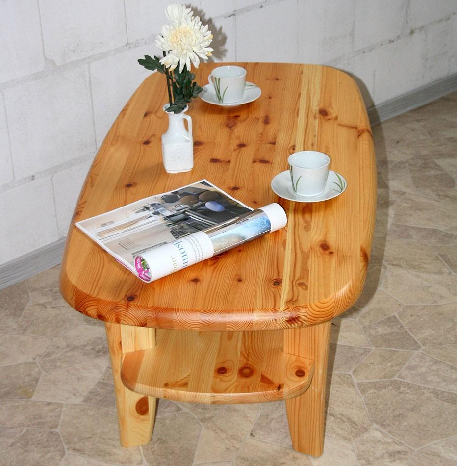 wohnzimmertisch holz:Couchtisch 116×61 Massivholz Sofatisch Kiefer Beistelltisch natur