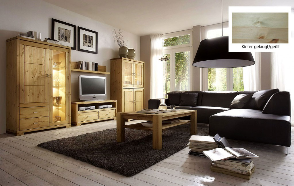 wohnwand anbauwand wohnzimmerm bel tv m bel kiefer massiv gelaugt ge lt. Black Bedroom Furniture Sets. Home Design Ideas