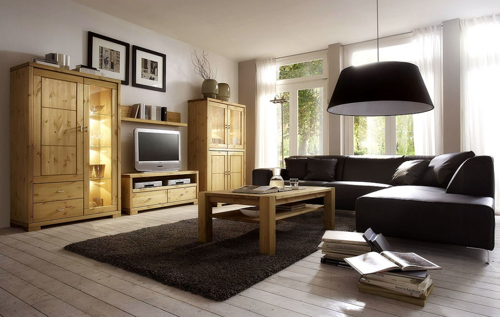wohnwand anbauwand wohnzimmerm bel tv m bel kiefer massiv. Black Bedroom Furniture Sets. Home Design Ideas