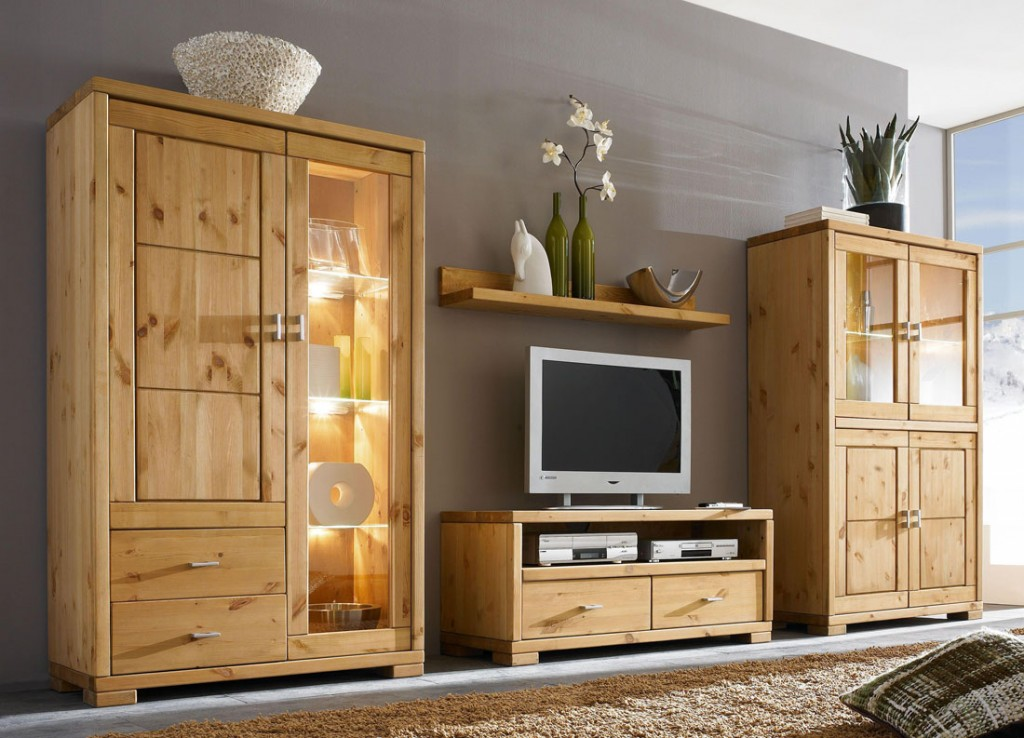 massivholz highboard vitrine vitrinenschrank. Black Bedroom Furniture Sets. Home Design Ideas