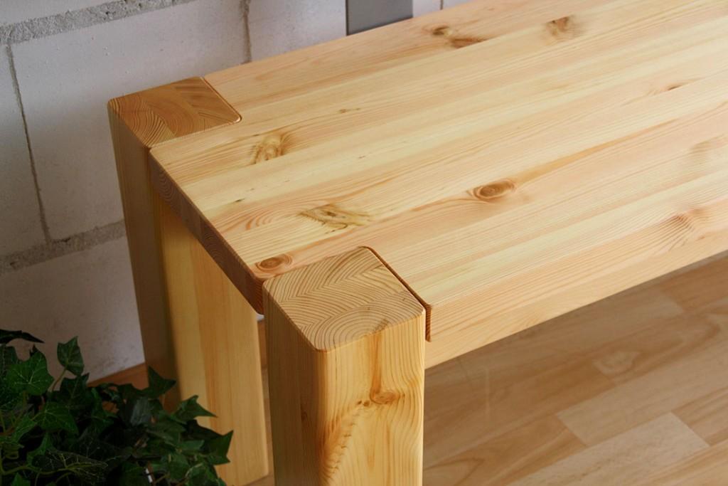 Massivholz Sitzbank 140cm mit Rückenlehne Holzbank Lehne