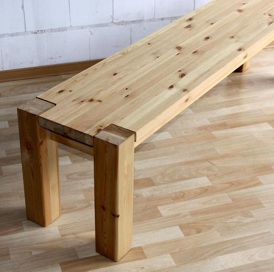 massivholz sitzbank 140cm bank k chenbank holzbank kiefer natur. Black Bedroom Furniture Sets. Home Design Ideas