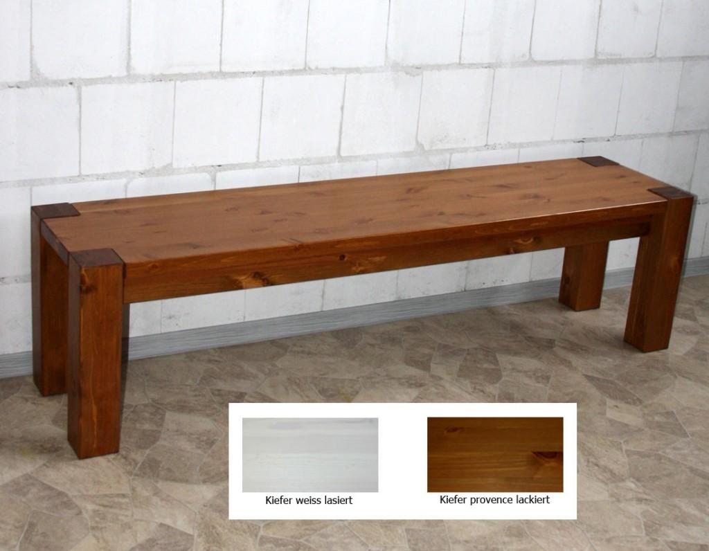 massivholz sitzbank 180cm bank k chenbank holzbank kiefer wei honig. Black Bedroom Furniture Sets. Home Design Ideas