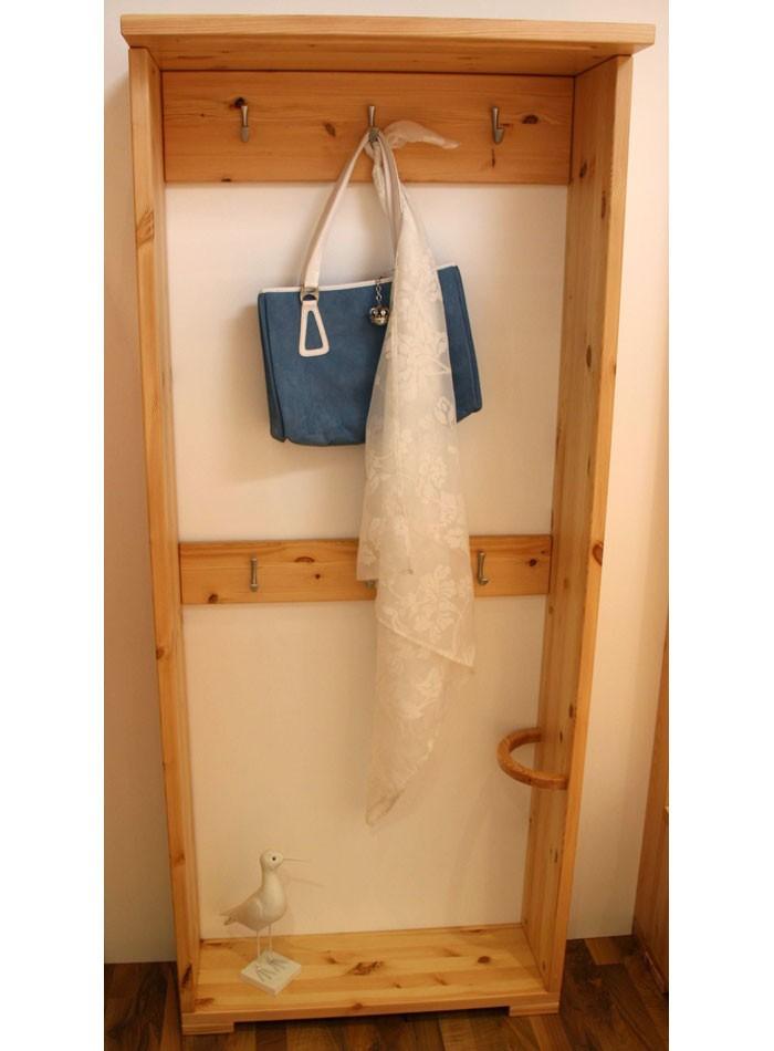 Garderobe holz massiv garderobe gloria massivholz antik for Garderobe kiefer