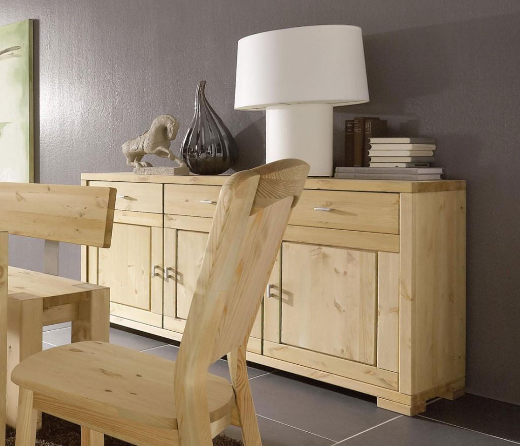 massivholz kommode 3t rig gelaugt ge lt sideboard anrichte. Black Bedroom Furniture Sets. Home Design Ideas