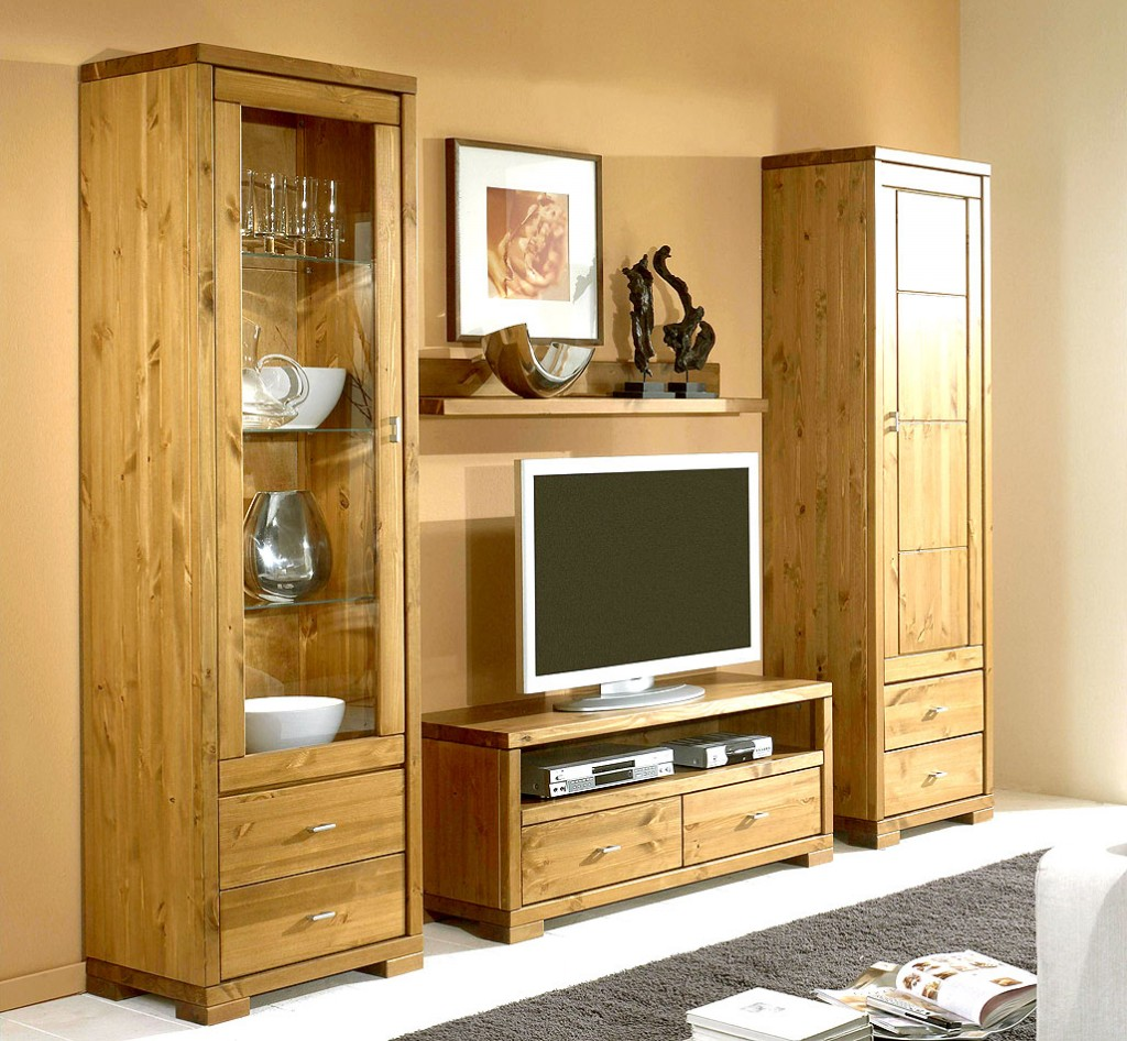 massivholz vitrine vitrinenschrank hochschrank kiefer massiv holz gelaugt. Black Bedroom Furniture Sets. Home Design Ideas