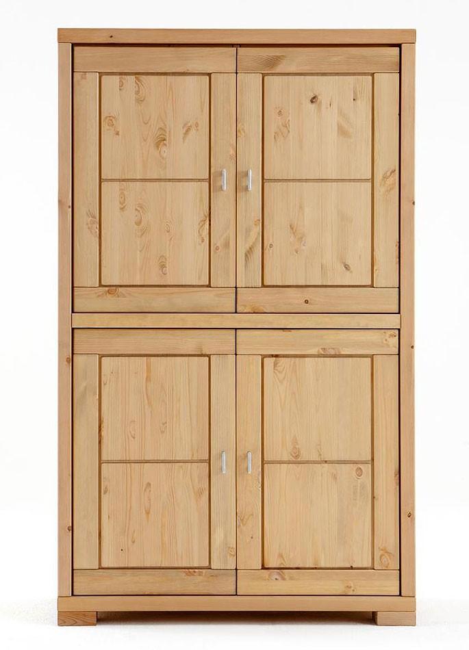 massivholz highboard wohnzimmerschrank kiefer natur. Black Bedroom Furniture Sets. Home Design Ideas