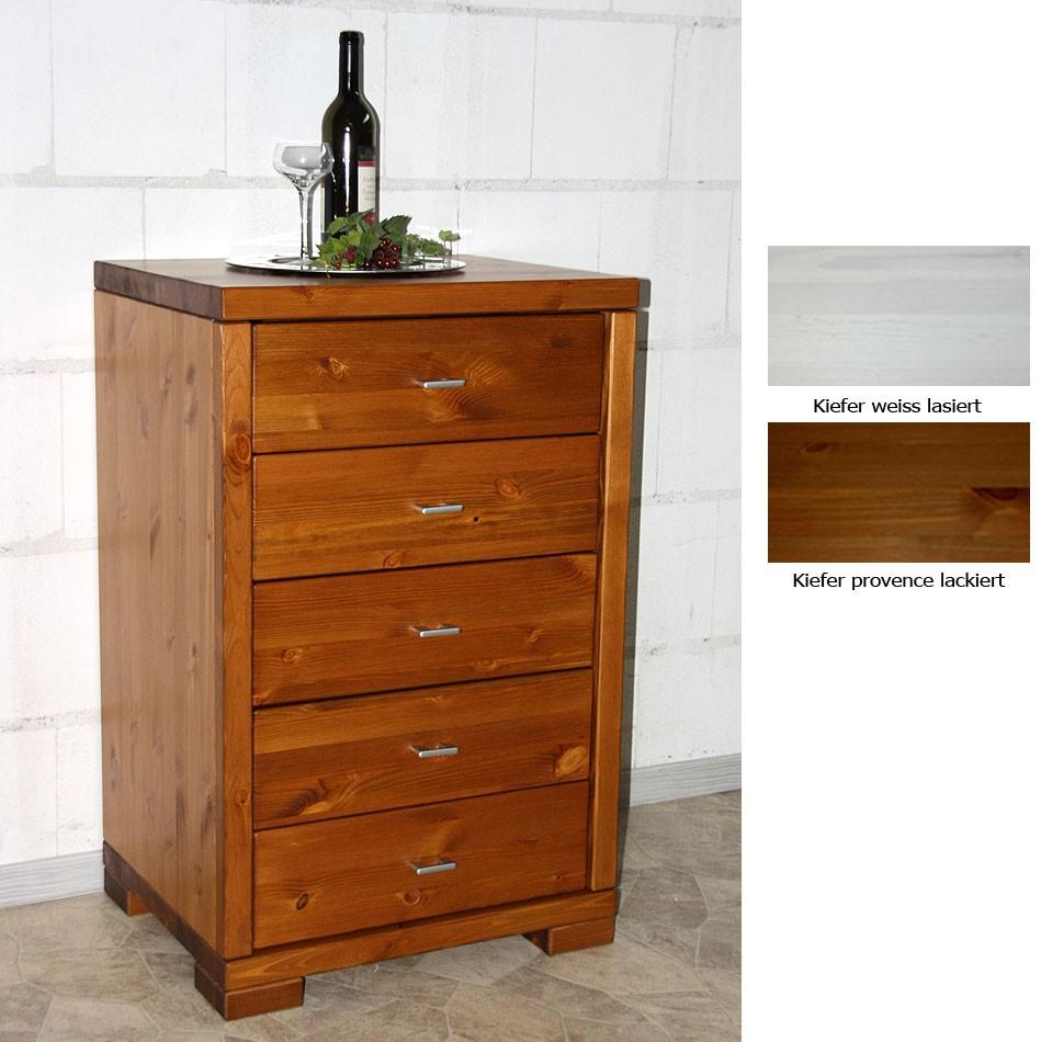 massivholz kommode schubladenkommode kiefer wei oder honig. Black Bedroom Furniture Sets. Home Design Ideas