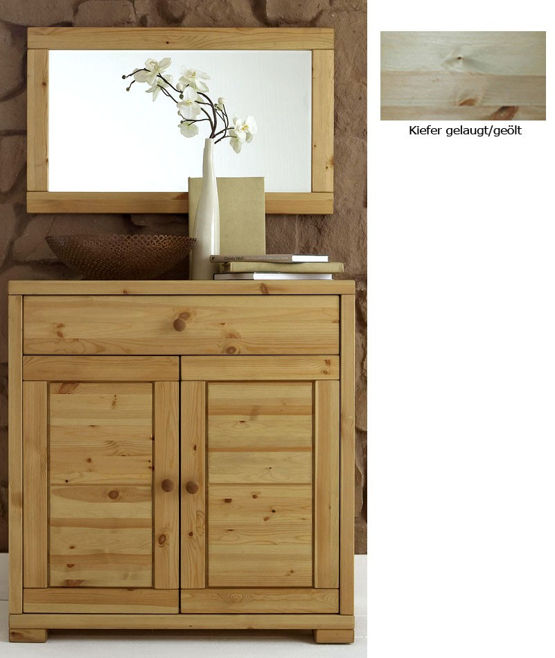 kommode spiegel sideboard w schekommode gelaugt ge lt kiefer massiv. Black Bedroom Furniture Sets. Home Design Ideas