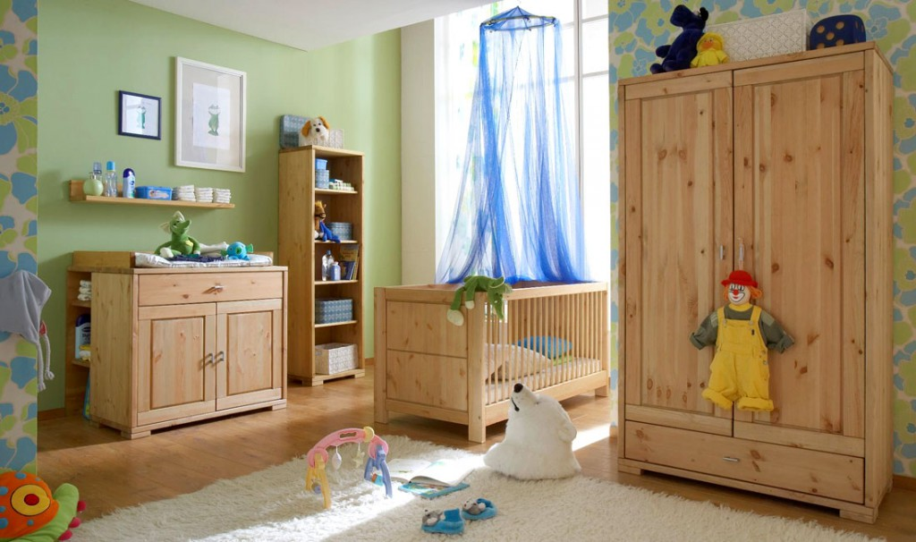 massivholz babybett 70x140 gitterbett kinderbett kiefer natur. Black Bedroom Furniture Sets. Home Design Ideas