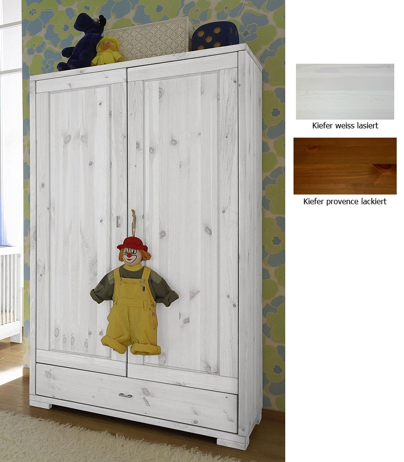 massivholz kinderschrank 2t rig babyschrank kleiderschrank kiefer. Black Bedroom Furniture Sets. Home Design Ideas