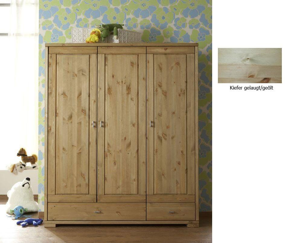 massivholz kinderschrank babyschrank kleiderschrank kiefer. Black Bedroom Furniture Sets. Home Design Ideas