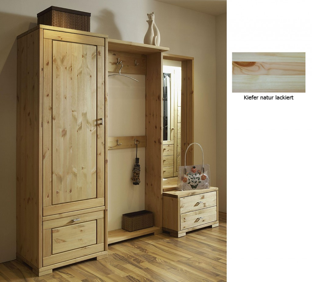 garderobe holz massiv garderobe lara massivholz firenze lackiert 1814 massivholz garderoben. Black Bedroom Furniture Sets. Home Design Ideas