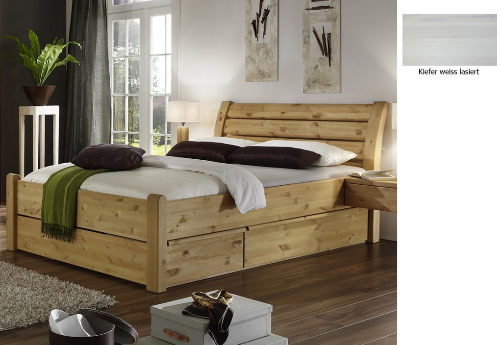 doppelbett holz weiss ihr traumhaus ideen. Black Bedroom Furniture Sets. Home Design Ideas