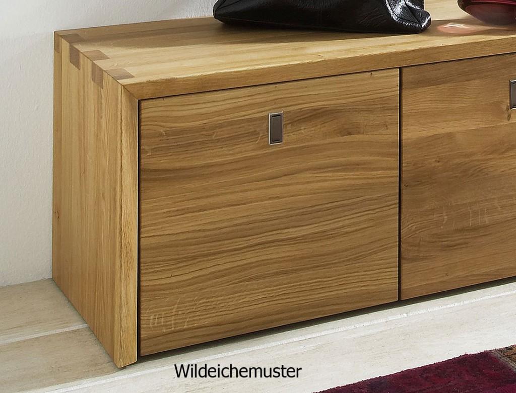massivholz garderoben set dielenm bel 3 teile wildeiche massiv holz. Black Bedroom Furniture Sets. Home Design Ideas
