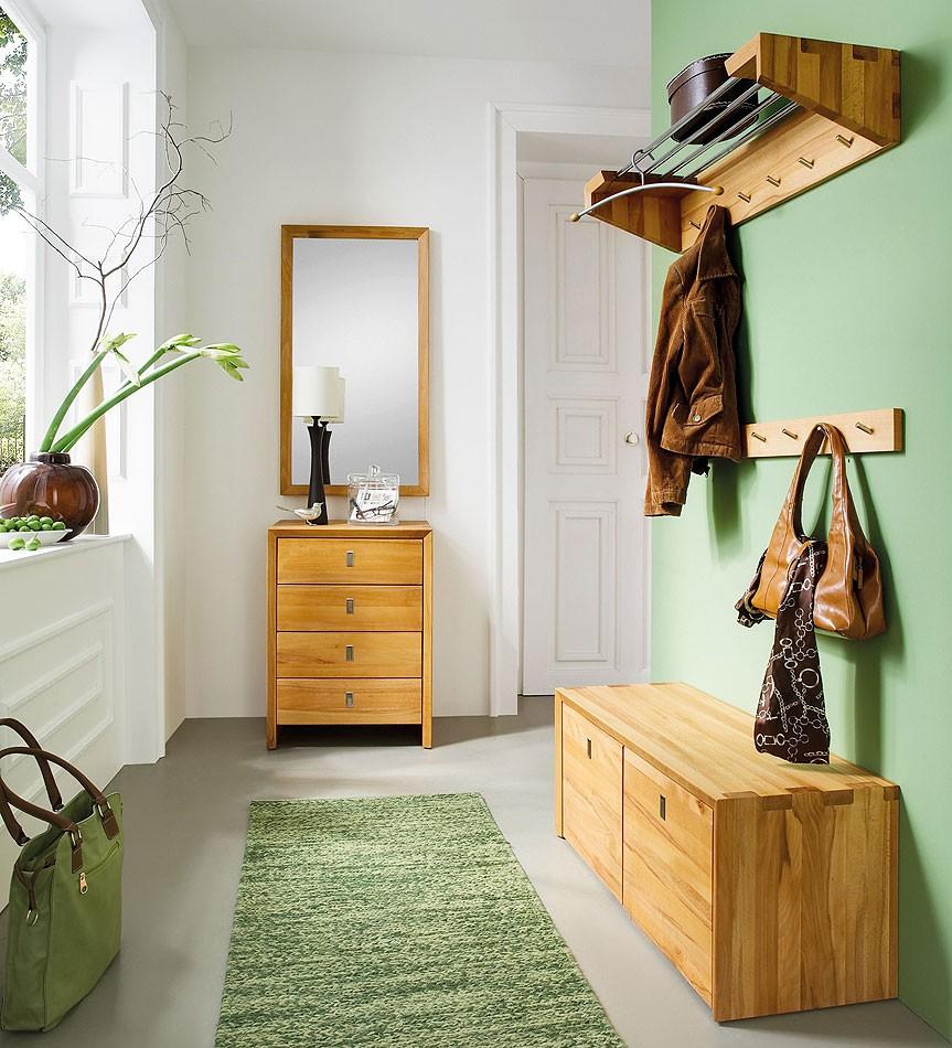 massivholz garderoben set dielenm bel 5 teile wildeiche. Black Bedroom Furniture Sets. Home Design Ideas