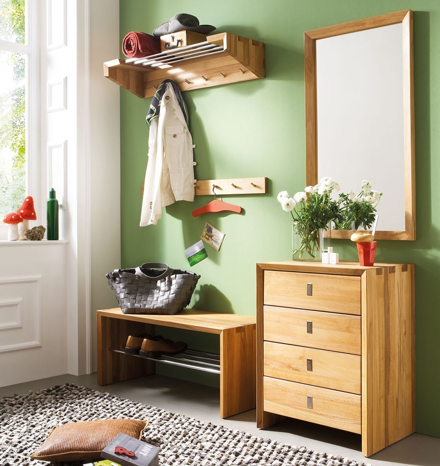 massivholz garderoben set dielenm bel 5teilig wildeiche. Black Bedroom Furniture Sets. Home Design Ideas