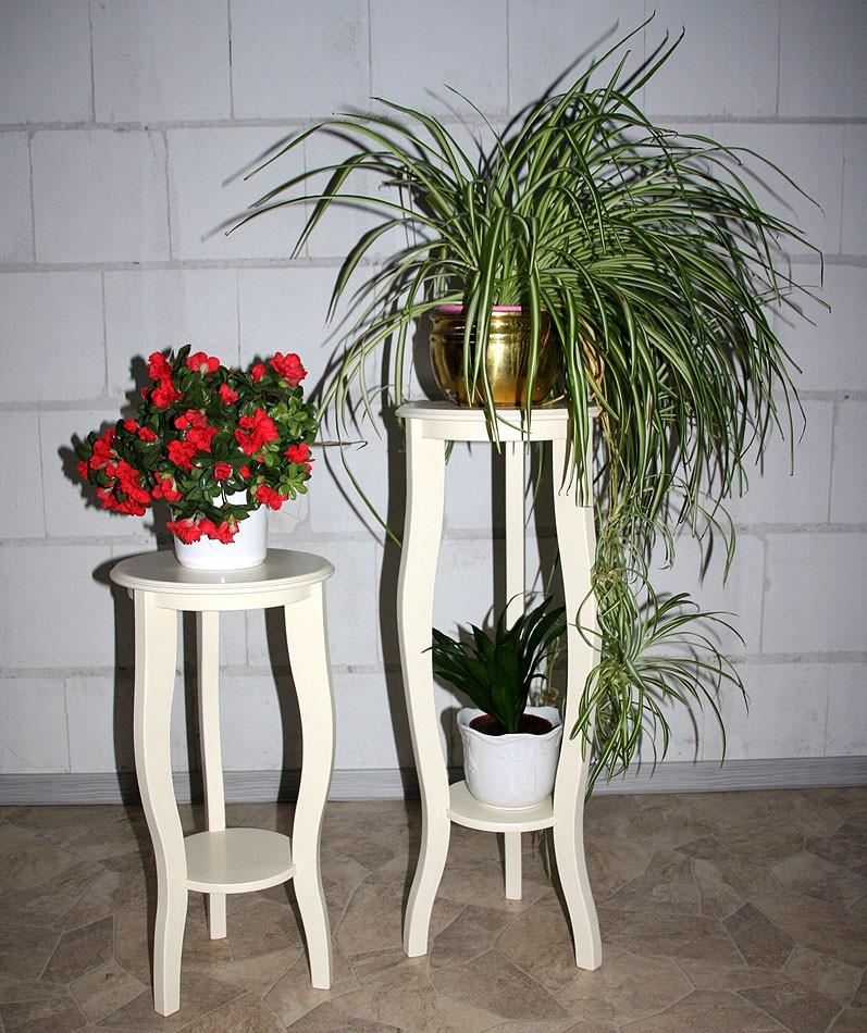 Esstische Cremefarben ~ Blumentische BlumenhockerSet Blumensäulen Blumentisch massiv Holz creme