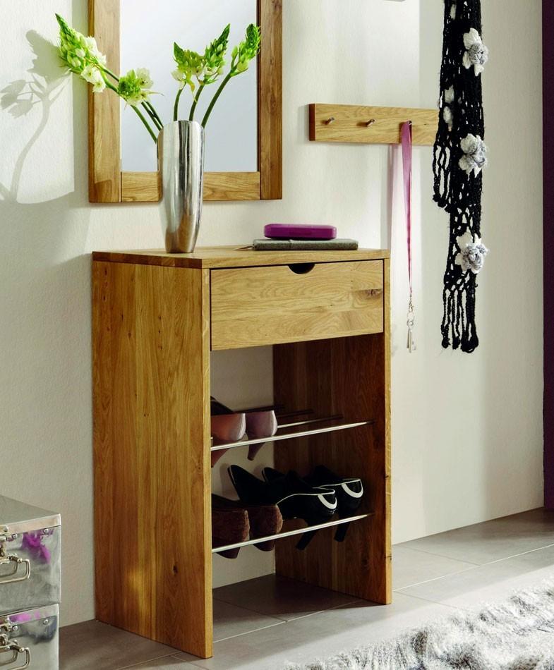 massivholz garderoben set dielenm bel wildeiche massiv ge lt. Black Bedroom Furniture Sets. Home Design Ideas