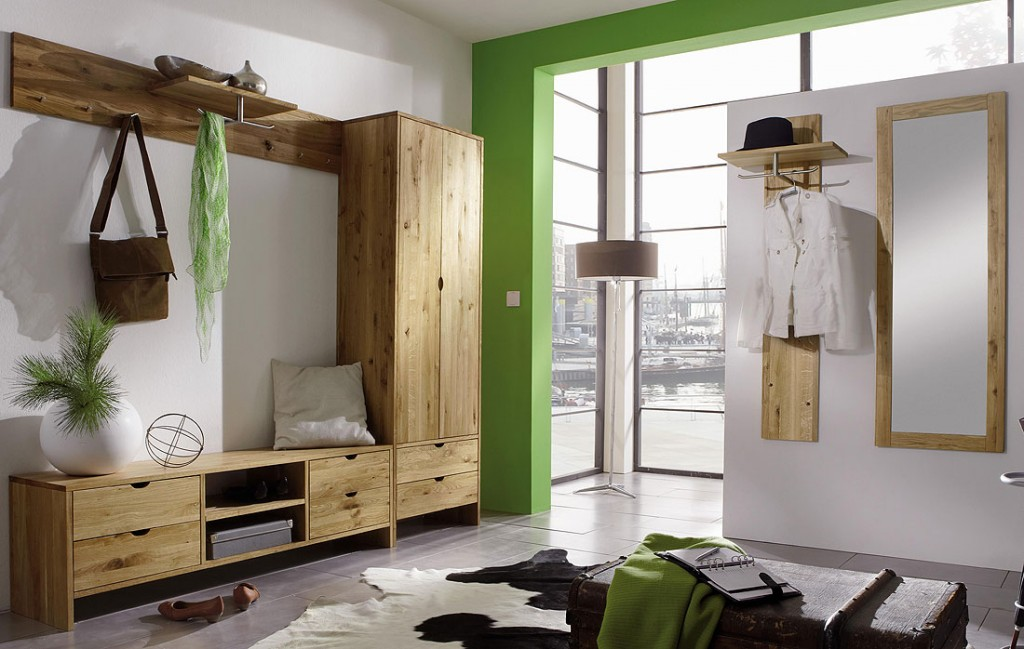 massivholz garderoben set flurm bel dielenm bel wildeiche massiv ge lt. Black Bedroom Furniture Sets. Home Design Ideas