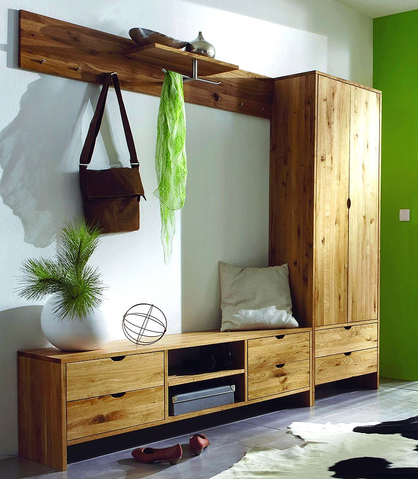massivholz garderoben set dielenm bel flurm bel wildeiche massiv ge lt. Black Bedroom Furniture Sets. Home Design Ideas