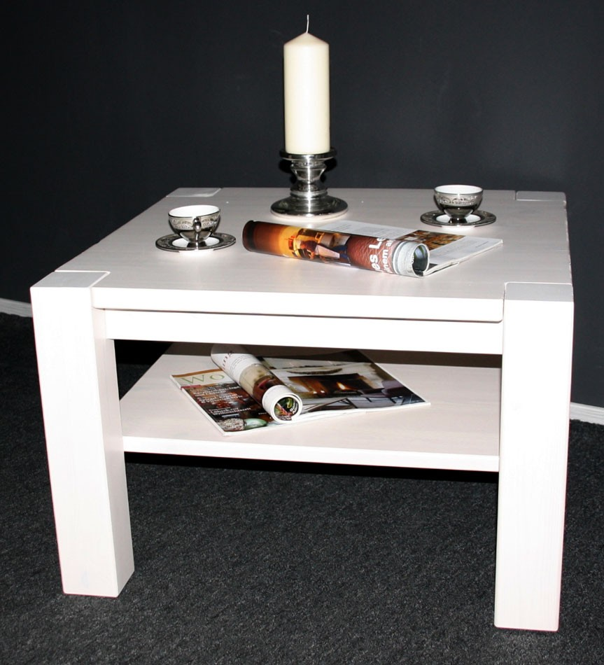 massivholz couchtisch wei sofatisch beistelltisch kiefer massiv holz. Black Bedroom Furniture Sets. Home Design Ideas
