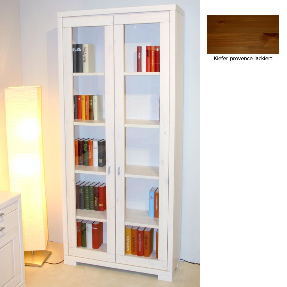 b cherregal mit glast r b rozubeh r. Black Bedroom Furniture Sets. Home Design Ideas