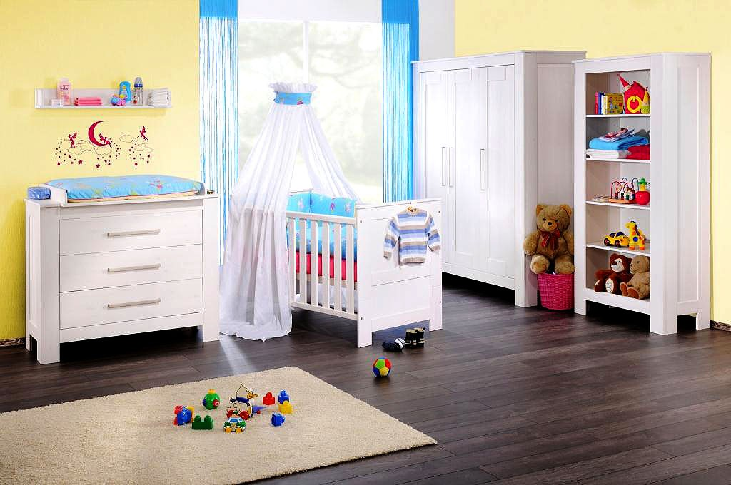massivholz spar set babyzimmer 5teilig komplett kinderzimmer wei kiefer massiv. Black Bedroom Furniture Sets. Home Design Ideas
