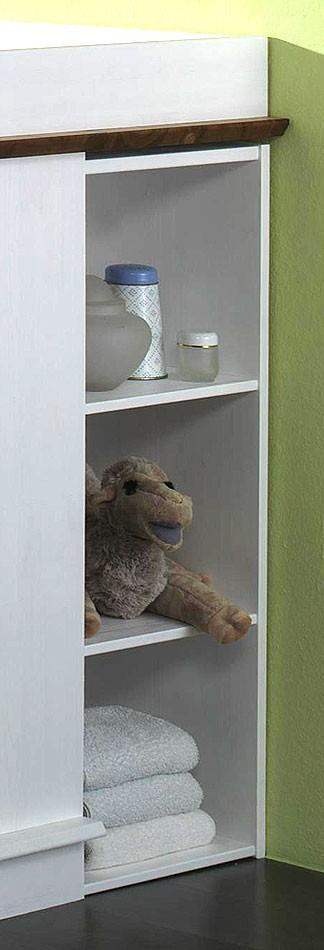 massivholz wickelkommode mit unterbauregal wei honig kiefer massiv. Black Bedroom Furniture Sets. Home Design Ideas
