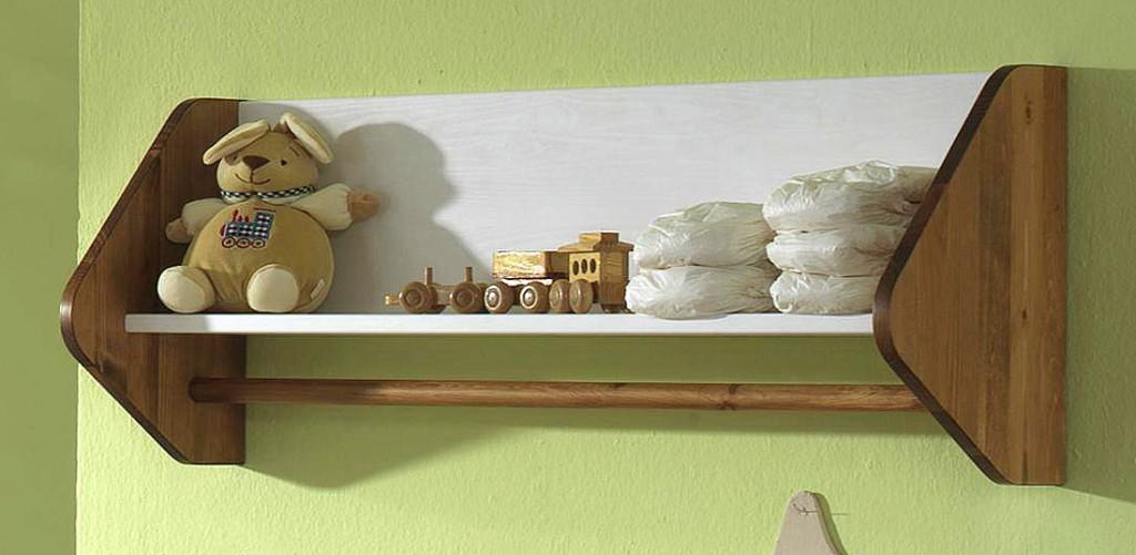 massivholz wandboard wandregal h ngeregal wei honig kiefer massiv. Black Bedroom Furniture Sets. Home Design Ideas