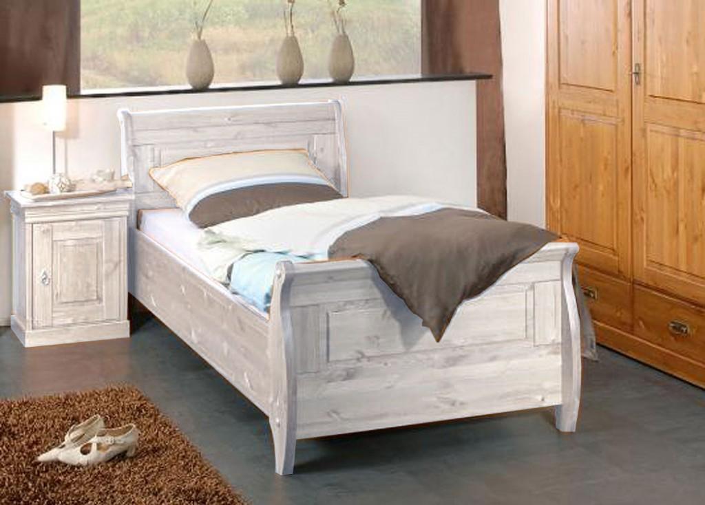 einzelbett wei holz. Black Bedroom Furniture Sets. Home Design Ideas