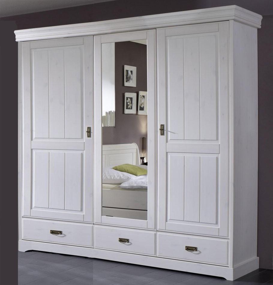 Kleiderschrank 3 Türig Weiß : massivholz kleiderschrank schrank 3t rig kiefer massiv ~ Watch28wear.com Haus und Dekorationen
