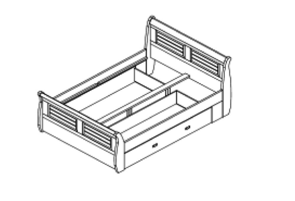 massivholz bett 140x200 holzbett mit bettkasten kiefer massiv wei kolonial. Black Bedroom Furniture Sets. Home Design Ideas