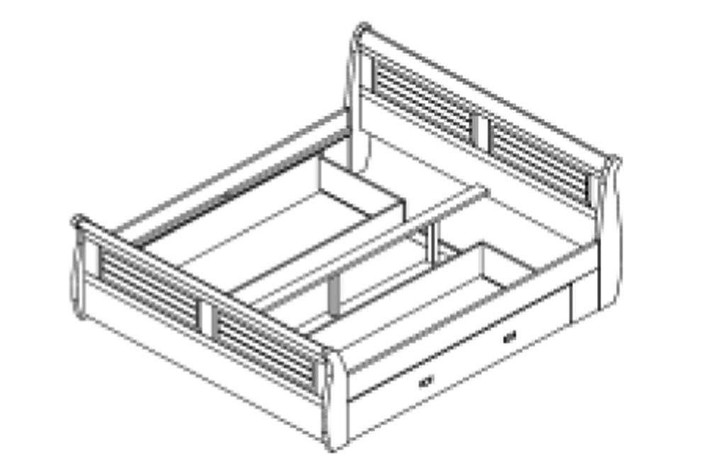 massivholz bett 180x200 holzbett mit bettkasten kiefer massiv wei kolonial. Black Bedroom Furniture Sets. Home Design Ideas
