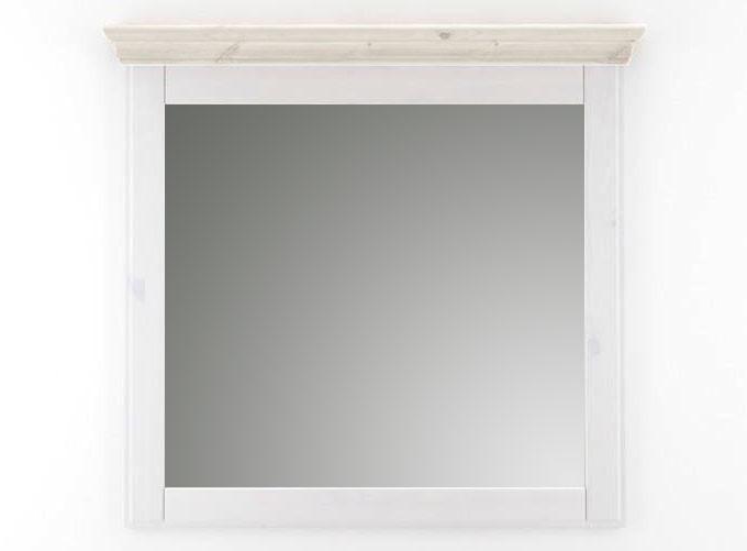 massivholz spiegel mit holzrahmen wandspiegel 100x100 kiefer massiv wei. Black Bedroom Furniture Sets. Home Design Ideas