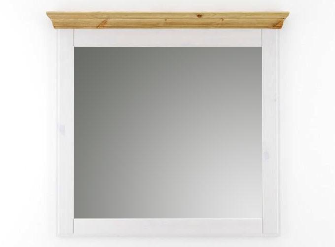 massivholz spiegel mit rahmen wandspiegel 100x100 kiefer. Black Bedroom Furniture Sets. Home Design Ideas