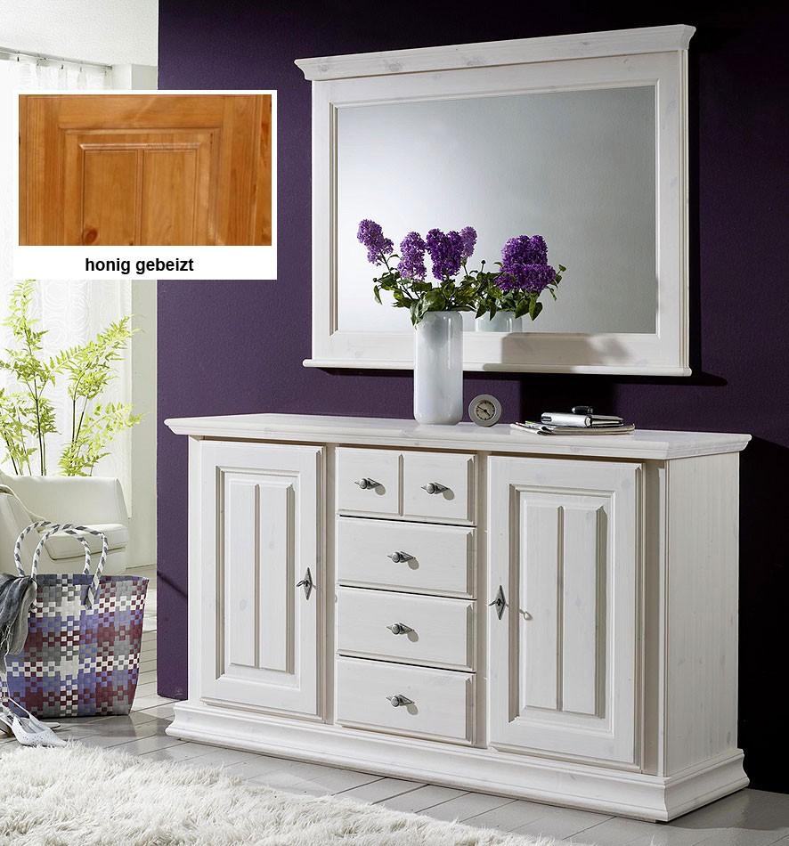 casa collection massivholz sideboard spiegel wandspiegel. Black Bedroom Furniture Sets. Home Design Ideas