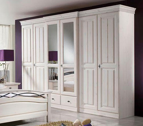 kleiderschrank holz weiss preisvergleiche. Black Bedroom Furniture Sets. Home Design Ideas