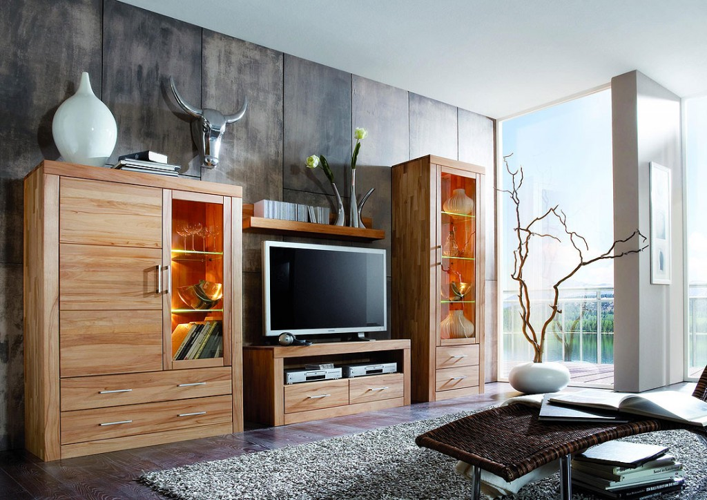 schrankwand kirschbaum massiv interessante ideen f r die gestaltung eines raumes. Black Bedroom Furniture Sets. Home Design Ideas