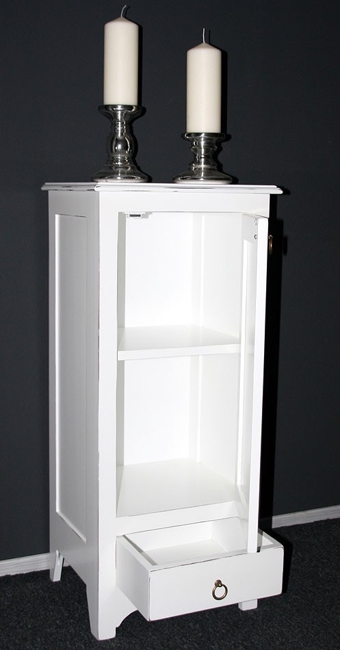 massivholz kommode w scheschrank badschrank schmal massiv wei shabby. Black Bedroom Furniture Sets. Home Design Ideas