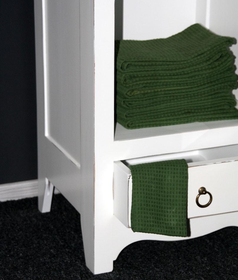 massivholz vitrine standvitrine badschrank holz massiv wei shabby. Black Bedroom Furniture Sets. Home Design Ideas