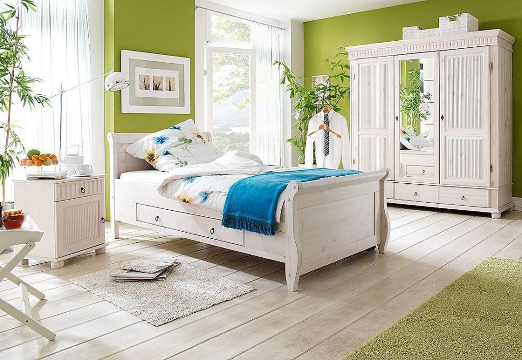 bett mit schubladen 160x200 wei holzbett kiefer massiv poarta. Black Bedroom Furniture Sets. Home Design Ideas