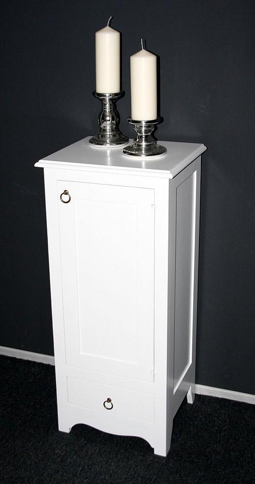 massivholz kommode w scheschrank badschrank schmal massiv wei lackiert. Black Bedroom Furniture Sets. Home Design Ideas