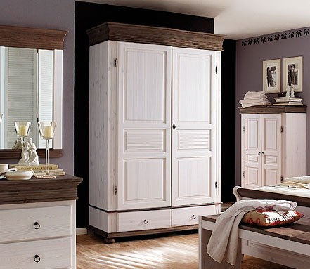 kleiderschrank xl 2 t rig wei schlafzimmerschrank kiefer. Black Bedroom Furniture Sets. Home Design Ideas